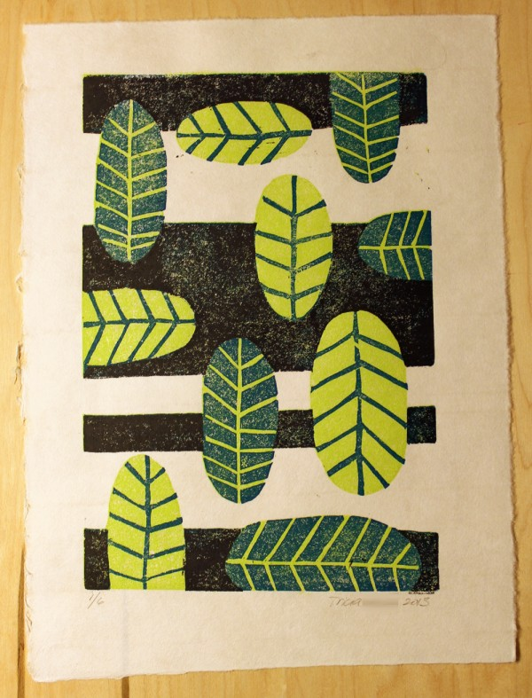 Printmaking: Reduction Linocut Print – Daring Hue