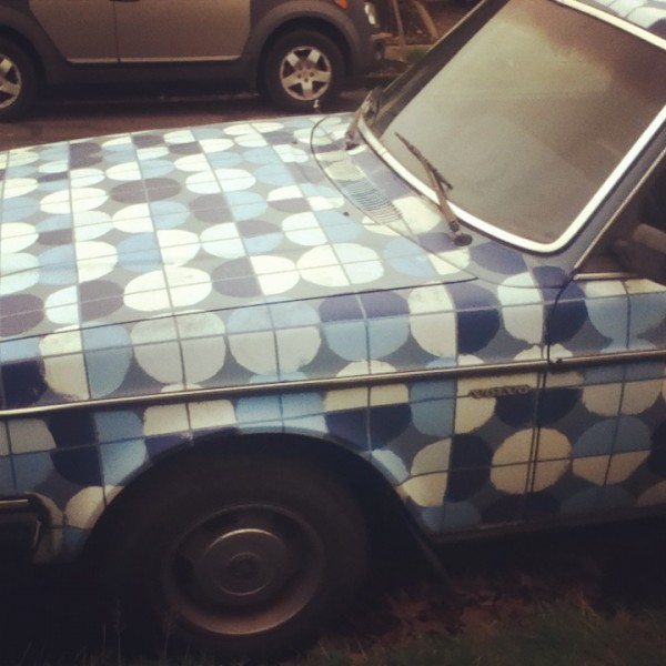 Blue Pattern Car in NE Portland, DaringHue.com