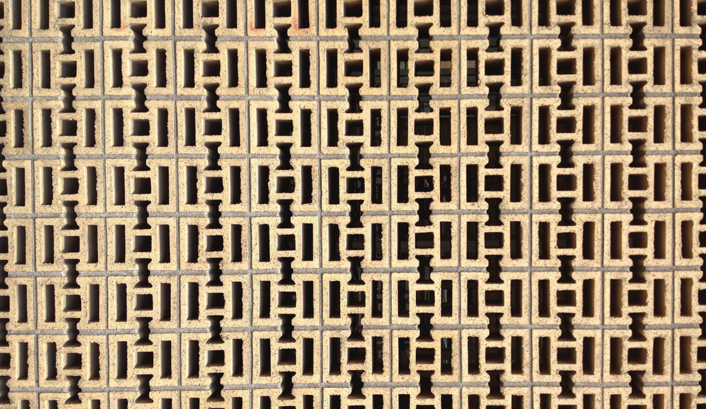 Brick pattern in Downtown Portland